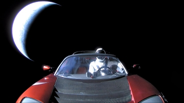 Starman on his way