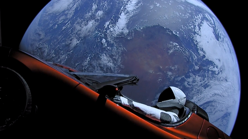 Starman cruising